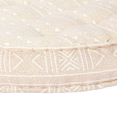vidaXL Poef 100x20 cm stof beige