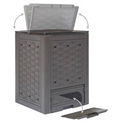 vidaXL Compostbak 300 L 60x60x83 cm bruin
