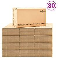 vidaXL Verhuisdozen 80 st XXL 60x33x34 cm karton