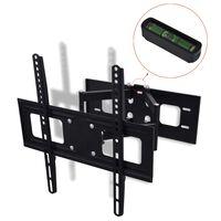 vidaXL Tv-beugel dubbelarmig kantelen zwenken 3D 32''-55'' 400x400 mm