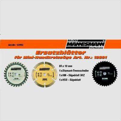 Brüder Mannesman 3-delige Zaagbladenset voor cirkelzaag