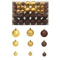 vidaXL Kerstballenset 6 cm bruin/brons/goud 100-delig