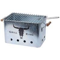 ProGarden Barbecue met houten handgrepen zink