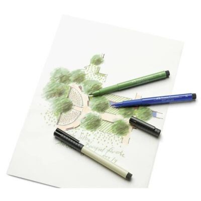 Faber Castell Tekenstift Faber-Castell Pitt Artist Pen Brush 103 ivoor