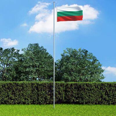 vidaXL Vlag met vlaggenmast Bulgarije 6,2 m aluminium