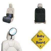 A3 Baby & Kids 4-delige Baby autoaccessoireset zwart