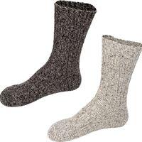 Starling Noorse sokken 2-pack antraciet / grijs maat 47/49