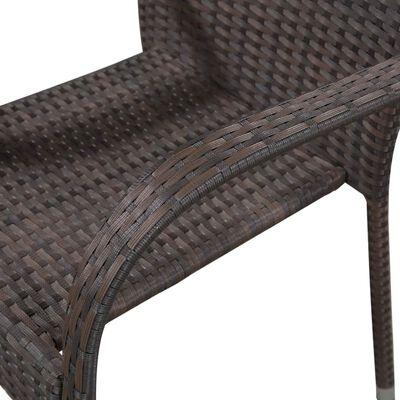 vidaXL Tuinstoelen stapelbaar 2 st poly rattan bruin