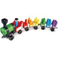 PolyM Rainbow Counting Train bouwblokken 63-delig