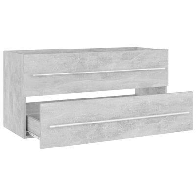 vidaXL Wastafelkast 100x38,5x48 cm spaanplaat betongrijs