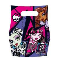 Amscan uitdeelzakje Monster High 2 roze/paars 6 stuks