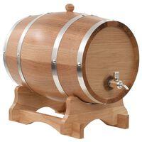 vidaXL Wijnvat met kraantje 12 L massief eikenhout