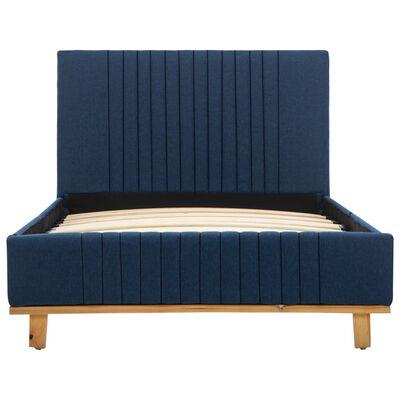 vidaXL Bedframe stof blauw 90x200 cm