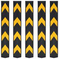vidaXL Hoekbeschermers reflecterend 80 cm rubber 5 st