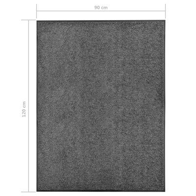 vidaXL Deurmat wasbaar 90x120 cm antraciet