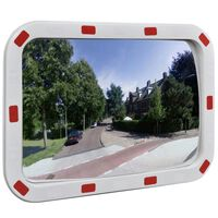 vidaXL Verkeersspiegel rechthoekig met reflectors 40x60 cm