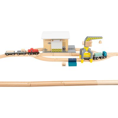Small Foot goederentrein met depot hout junior 45-delig