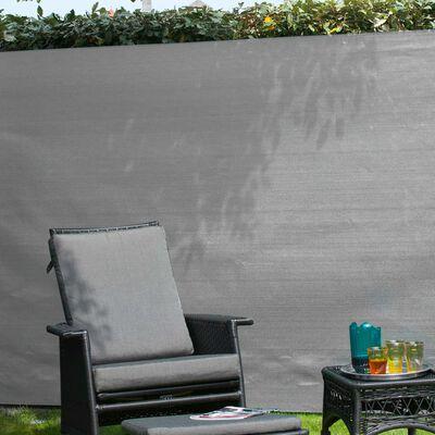 Nature Tuinscherm 1,2x5 m PE grijs