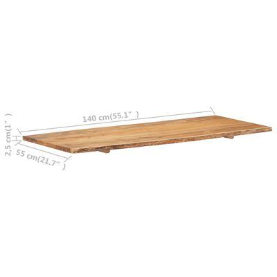 vidaXL Wastafelblad 140x55x2,5 cm massief acaciahout
