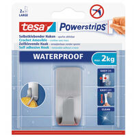 1x Tesa RVS haak waterproof Powerstrips - Klusbenodigdheden -