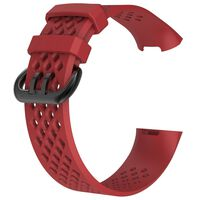 Fitbit Charge 3/4 armband - rood - S