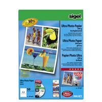 Inkjetpapier Sigel A4 260grs pak a 50 vel fotopapier        hooggla...