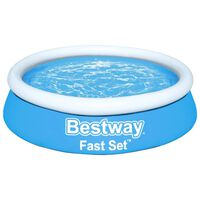 Bestway Zwembad Fast Set opblaasbaar rond 183x51 cm blauw