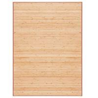 vidaXL Tapijt 160x230 cm bamboe bruin