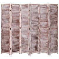 vidaXL Kamerscherm met 6 panelen 210x165 cm hout bruin