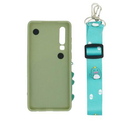 Huawei P30 shell / portemonnee hoesje Dinosaurus / groen