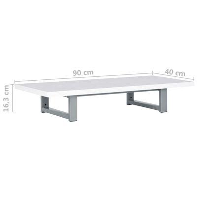 vidaXL Badkamermeubel 90x40x16,3 cm wit