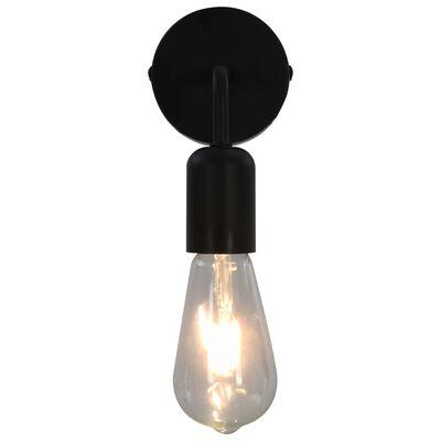 vidaXL Wandlampen 2 st E27 zwart