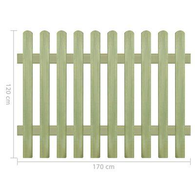 vidaXL Hek 6/9 cm 170x120 cm geïmpregneerd grenenhout