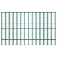 vidaXL Dubbelstaafmatten 2,008x1,23 m 48 m (totale lengte) groen