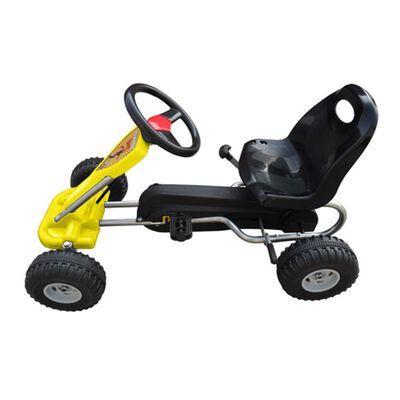 vidaXL Skelter met pedalen geel