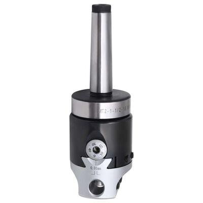 vidaXL 15-delige Boorgereedschapsset met MT2-F1-12 boorkop 50 mm