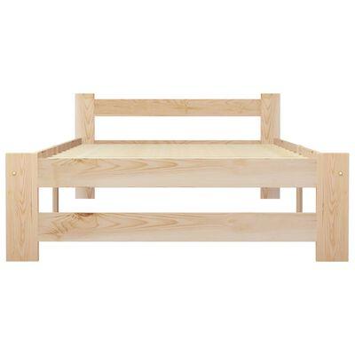 vidaXL Bedframe massief grenenhout 90x200 cm