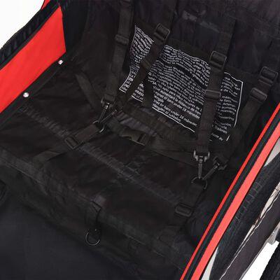 vidaXL Fietskar voor kinderen 30 kg rood en zwart