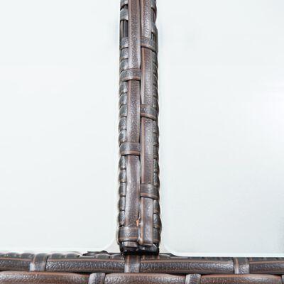 vidaXL 7-delige Tuinbarset met kussens poly rattan bruin