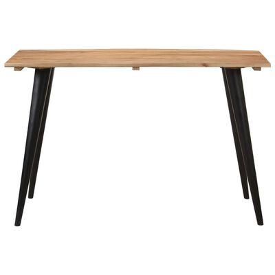 vidaXL Eettafel met natuurlijke randen 120x60x75 cm massief acaciahout