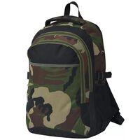 vidaXL Rugzak voor school 40 L zwart en camouflage