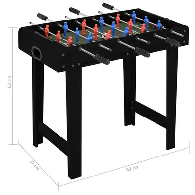 vidaXL Minivoetbaltafel 69x37x62 cm zwart