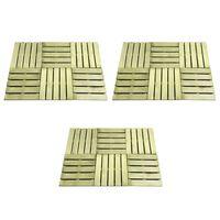 vidaXL 18 st Terrastegels 50x50 cm hout groen