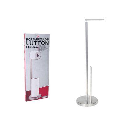 Luxe RVS Toiletpapier Houder Vrijstaand - RVS Staande Toiletrolhouder,