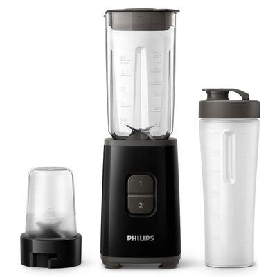 Philips HR2603/90 Mini Blender + Beker 600 ml Zwart,