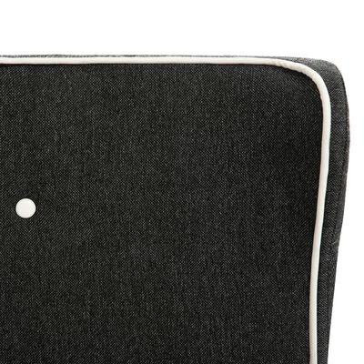 vidaXL Bed met matras jute donkergrijs 90x200 cm
