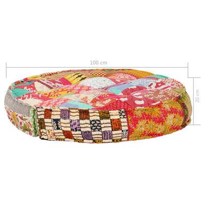 vidaXL Poef 100x20 cm stof patchwork