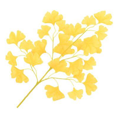 vidaXL Kunstbladeren Japanse notenboom 10 st 65 cm geel