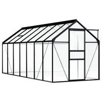 vidaXL Broeikas 8,17 m² aluminium antraciet