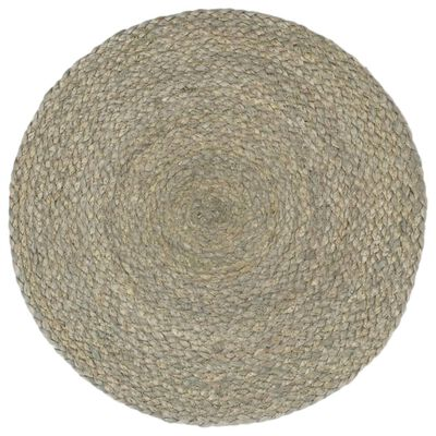 vidaXL Placemats 4 st rond 38 cm jute effen grijs